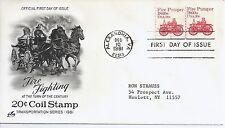 US Scott #1908, First Day Cover 12/10/81 Alexandria Line Pair Plate #2