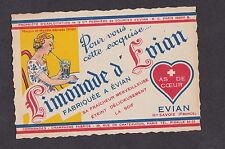 Ancienne étiquette France Limonade  d'Evian BN12884