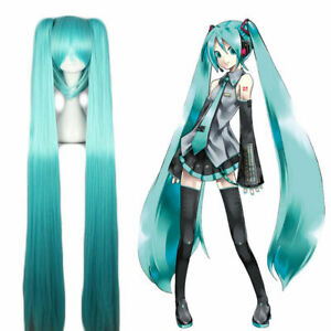Vocaloid Hatsune Miku Show Ponytails Anime Cosplay Wig Halloween Party Props