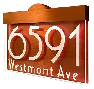 12-16V AC Dusk Dawn Illuminated LED Lighted Address Sign Plaque House number