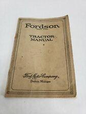 Rare Vintage 1925 Fordson Tractor Manual Ford Motor Company Original USA