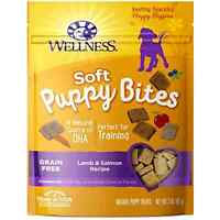 Wellness Soft Puppy Bites Natural Grain Free Puppy Training Treats Lamb & Salmon