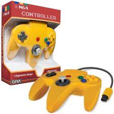 Yellow 6' Long Wired Controller Joystick Nintendo 64 N64 Game System Mario Kart