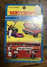 1972 MATCHBOX SUPERFAST by LESNEY 17 The LONDONER Unused in Blister Pack