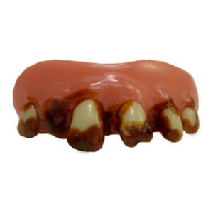 Meth Teeth Mouth Costume Billy Bob Prank Fake Tooth Smile Funny Face Accessory