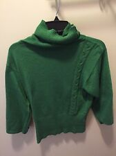Sparrow Anthropologie Women's Green Cowl Neck Kimono 3/4 Sleeve Sweater M