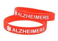 1pc Alzheimers Medical Alert Silicone Wrist Band Bracelet UK SELLER