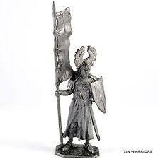 German Knight 13 Cent. Tin toy soldier. 54mm miniature figurine. metal sculpture