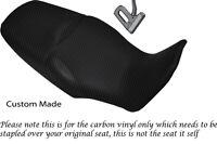 BLACK NAVY BLUE VINYL CUSTOM FOR HONDA VTR 1000F FIRESTORM 97-05 SEAT COVER ONLY