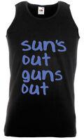 SUNS OUT GUNS OUT -  22 JUMP STREET BLACK MENS VEST TOP