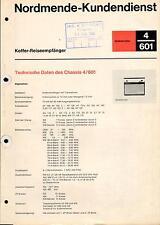 Nordmende Service Manual für Globetrotter 4.601    .