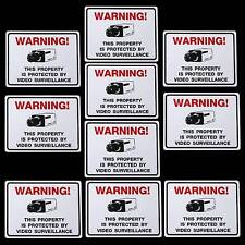 Lot Of 10 Party Grocery Store Security Cctv Cameras Cooler Door Warning Stickers