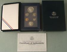 1990 S Prestige Set 6 Gem Proof Coins Eisenhower Silver $1 the US Mint COA OGP