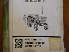 Kubota L1802, L2002, L2202, L2402 Tractor Parts Manual