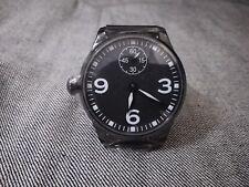 Parnis Pilot Aviator Watch 6497 Hand Winding Mechanical Sub SecondLeftHanded