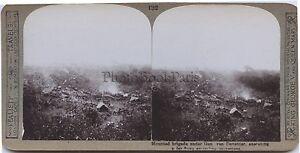 Soldats Anglais British troops Gen van Deventer WW1 UK Photo stereo Vintage
