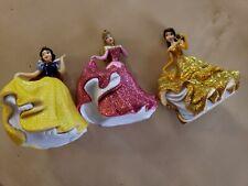 Disney Princesses LOT Sparkle Glitter Toy Princess Cake Topper Figures Set of 3