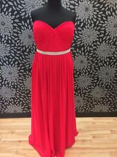Plus Size Hot Pink A-Line Prom Dress