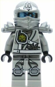 LEGO Ninjago Minifigure Zane - Titanium Ninja, with Hood (Genuine)