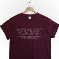 Vegan things tshirt top shirt tee stranger things parody netflix  herbivore