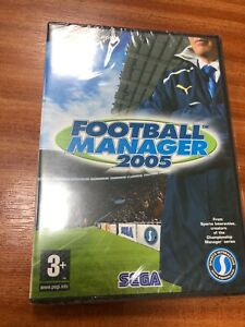 Football manager 2005 for PC & Mac. brand new. still sealed. Retro game.