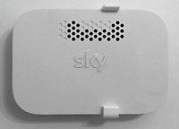 Sky Q Booster Wall Mount Bracket -New White Complete W/Fixings