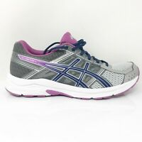 Asics Womens Gel Contend 4 T765N Gray Silver Running Shoes Lace Up Size 9