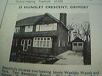 ephemera 1971 picture advert 23 hunsley crescent grimsby