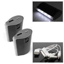 2 5200MAH EXTERNAL BACKUP BATTERY POWER CHARGER MICRO USB BLACK LG NEXUS OPTIMUS