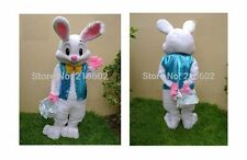 PROFESSIONAL Easter Bunny Mascot Costume Rabbit Cartoon Fancy Adult-US Seller!!
