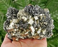 Amazing BIG Pyrite with Sphalerite and Calcite, Crystal, Crystal, Mineral