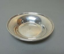"ANTIQUE STIEFF STERLING SILVER SMALL 5"" CANDY DISH / BOWL, MONOGRAM, 95 grams"