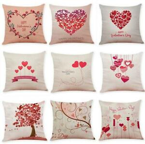 """18"""" valentine's day Cotton Linen Throw Pillow Case Cushion Cover Home Decor"""