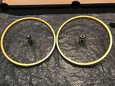 Nos shimano / weinmann gold old school bmx wheels wheelset Raleigh burner