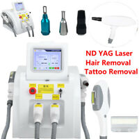 2 in1 SHR OPT Elight IPL Permanent Hair Removal YAG Laser Tattoo Removal 2Handle