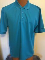 Beverly Hills Polo Club Large Turquoise Short Sleeve Shirt