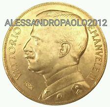 Rara Moneta Di Vittorio Emanuele III 50 lire Aratrice 1912 Placcata D'oro Gold!!