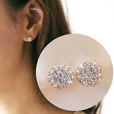Fashion New Women Lady Elegant circle Crystal Rhinestone Ear Stud Earrings