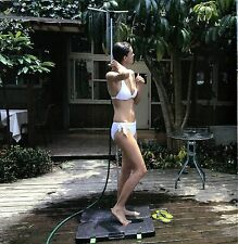 Outdoor Shower Portable Mobile Garden Pool Camping Stand Hose Head Adjustable
