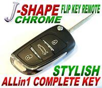 J-STYLE FLIP remote for 2010-2014 Toyota FJ CRUSIER CHIP-L CLICKER fob ALARM FTG