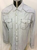 Buckle Slim Fit Mens Snap Button Shirt Western Size XL EUC