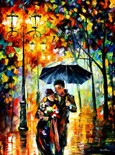 """Warm Night — Oil Painting On Canvas By Leonid Afremov. Size: 30""""x40"""""""
