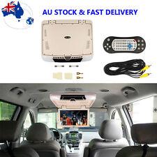"15.6"" DVD Player Flip Down Roof Mount Screen Car Monitor USB SD 12V Bus Camper"