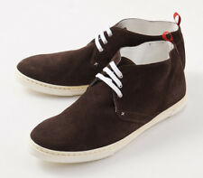 NIB $1150 KITON Chocolate Brown Suede Lightweight Chukka Sneakers US 9.5 Shoes