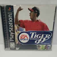 Tiger Woods 99 PGA Tour Golf (Sony PlayStation 1, 1998) Complete Tested
