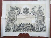 1868 DIPLOMA ILLUSTRATO SOCIETE DES SAUVETEURS PER PIETRO TONNINI DI SAN MARINO