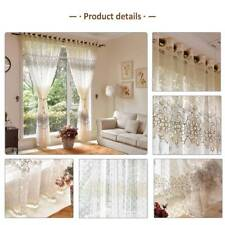 1x Voile Floral Curtain Plain Panels Net Pelmets Slot Durable Room Home Blind YR