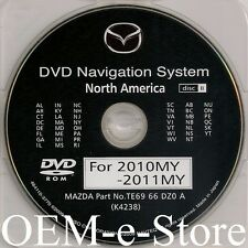 2009 2010 2011 2012 Mazda Mazda6 CX9 CX-9 Navigation DVD EAST Coast U.S Map