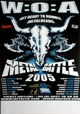 Wacken-W:o: A-METAL BATTLE - 2005-tourplakat-Get ready to... Tourposter