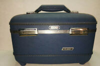 Vintage American Tourister Tri-Taper Makeup/Vanity Hard Shell Suitcase - Clean